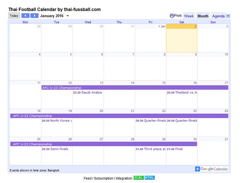 Calendar Year Us Soccer : News index page thai football since